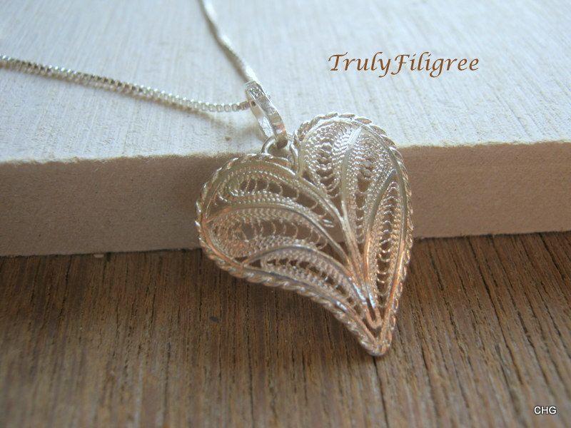 Heart pendant handmade jewelryfiligree heart silver heart heart pendant handmade jewelryfiligree heart silver heart pendantsilver pendant mozeypictures Choice Image