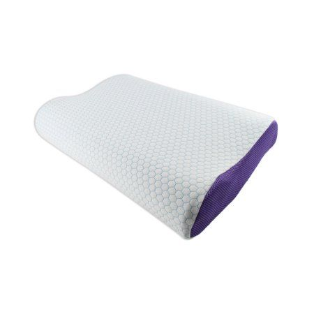 3d3b00016945 Euro Style Collection Super Cooling Gel Pillow Memory Foam Counter Neck  Pillow, Purple