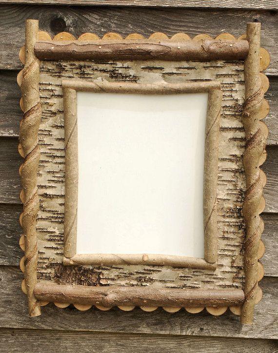 Adirondack Rustic Birch Bark and Twig 8x10 Frame on Etsy, $65.00 ...