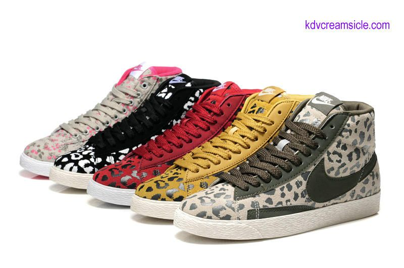 nike blazer mid leopard print trainers women