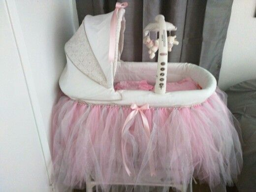 Baby girl pink and grey bassinet tutu skirt. | Baby products ...