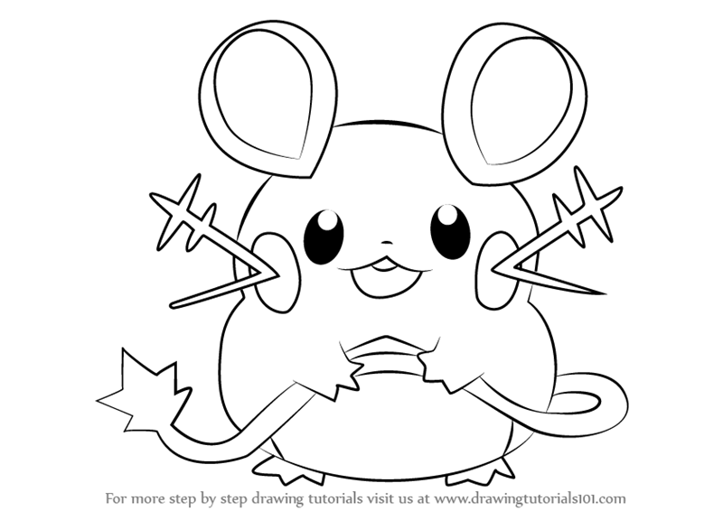 Learn How To Draw Dedenne From Pokemon Pokemon Step By Step Drawing Tutorial Drawings Pokemon Drawings