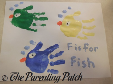 Alphabet Handprint Footprint Crafts Parenting Patch Handprint Crafts Footprint Crafts Fish Handprint