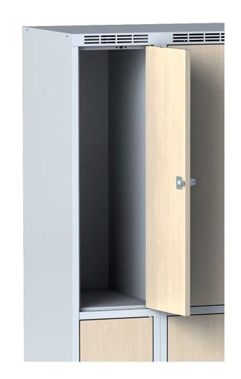 Wardrobe, 2 boxes 300 mm, laminated walnut door, revolving …