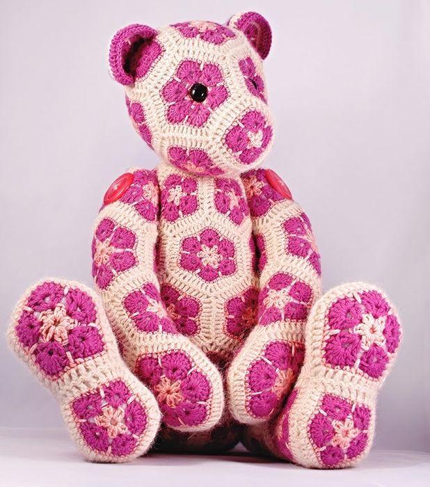 Flor crochet PIEZA FLOR AFRICANA Para Los juguetes Que Hacen Punto ...