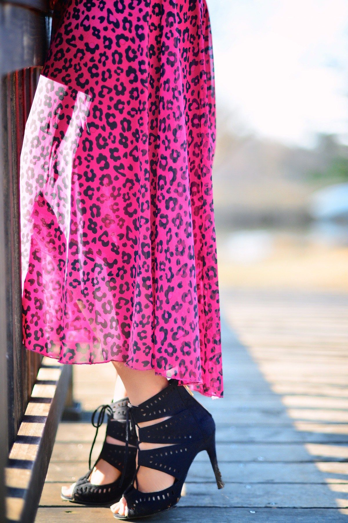 Maxi dress and high heels