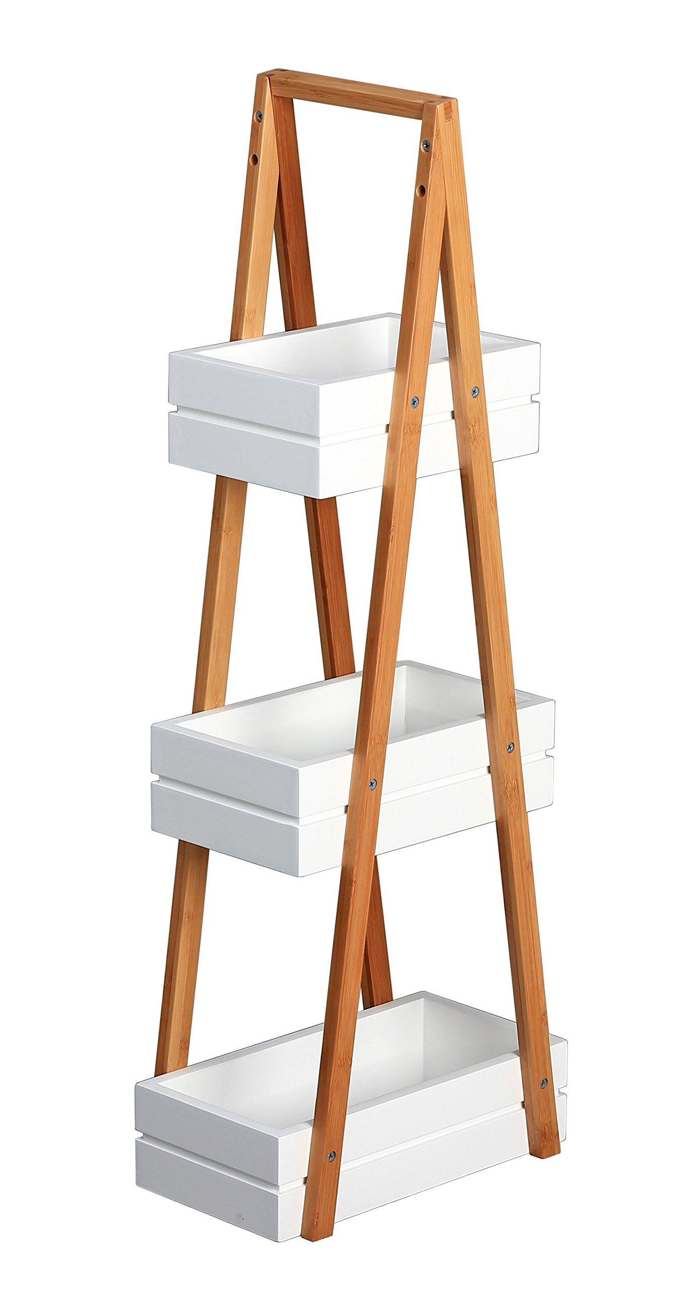 Bambus 3 Tier A-Frame Bathroom Free Standing Shower Caddy Tidy ...