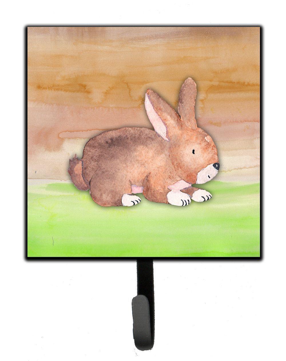 Rabbit Watercolor Leash or Key Holder BB7410SH4