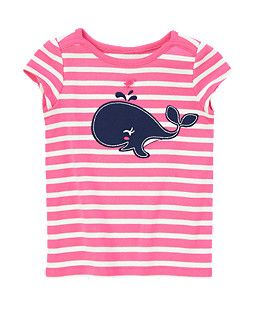 Happy Whale Stripe Short Sleeve Tee - Gymboree