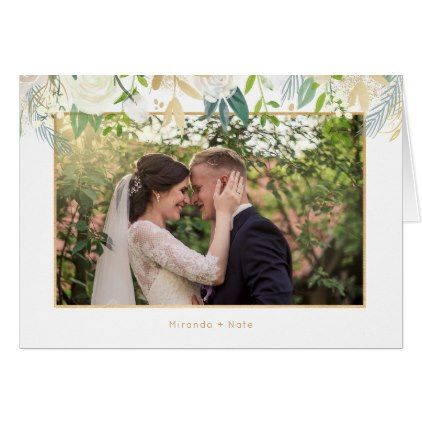 Trendy photo wedding thank you note card Note cards, Wedding and