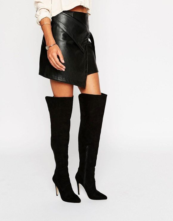 Panel Heeled Over The Knee Boots by