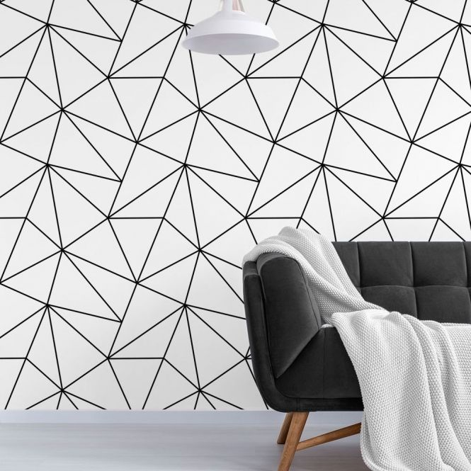Pin Di Home Sweet Home Black geometric wallpaper uk