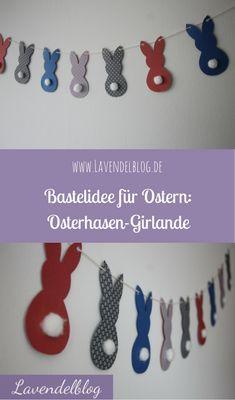 Bastelidee für Ostern: Osterhasen-Girlande - Lavendelblog