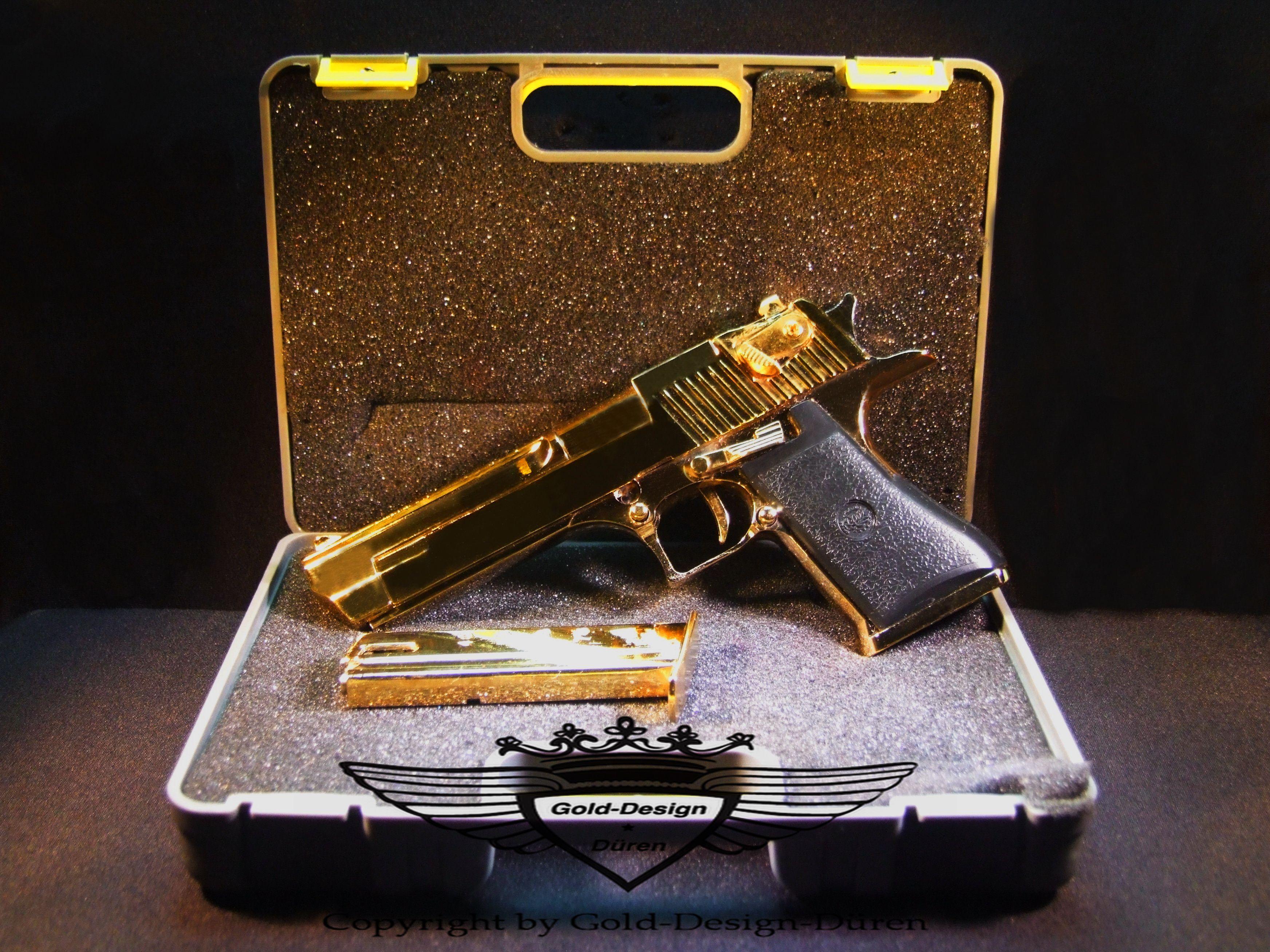 miniatur pistole galvanisieren galvanisiert 24 karat. Black Bedroom Furniture Sets. Home Design Ideas