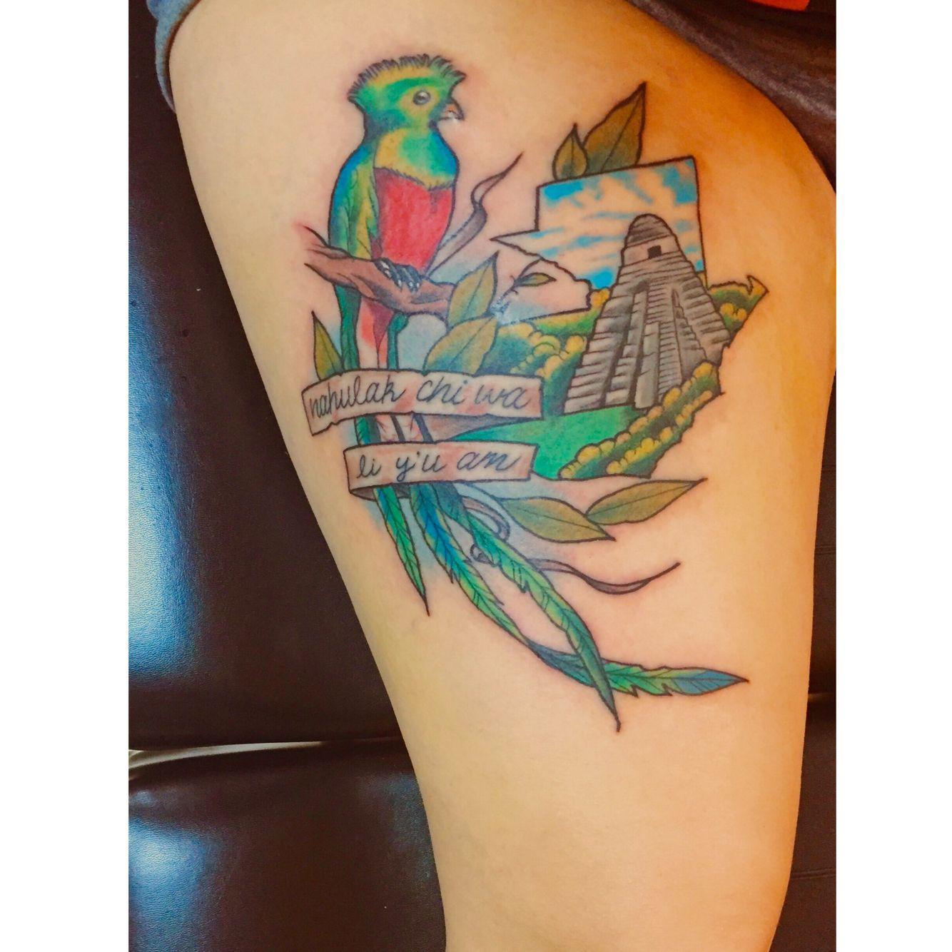 Guatemala tattoo #tattoo #ink #Guatemala #quetzal #flag # ...