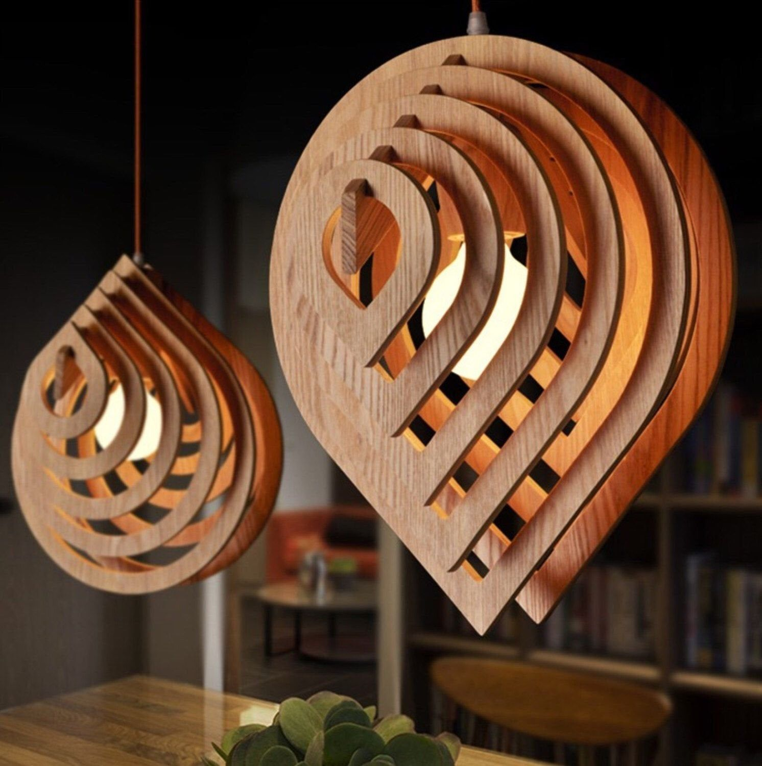 Wooden Lamp Drop Water This Cnc Files Dxf Cdr Svg Dxf Etsy In 2020 Rustic Light Fixtures Wooden Lamp Wood Pendant Light