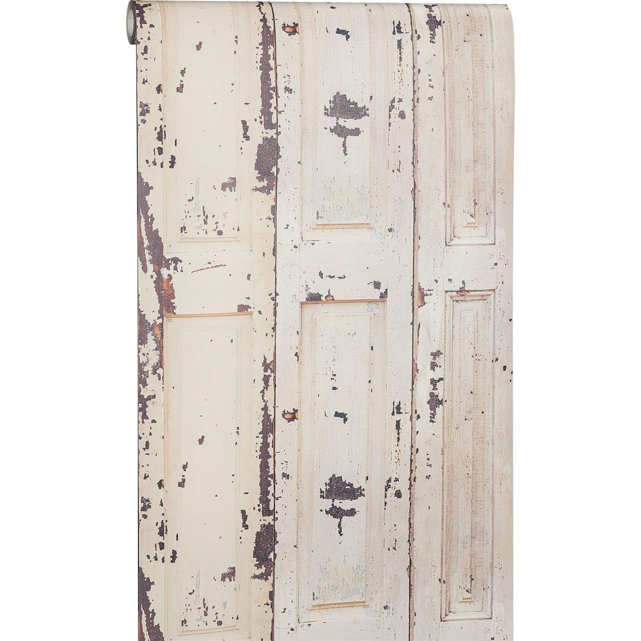 leuk, voor een 'old-look' behang demi off-white voor € 18,00, Deco ideeën