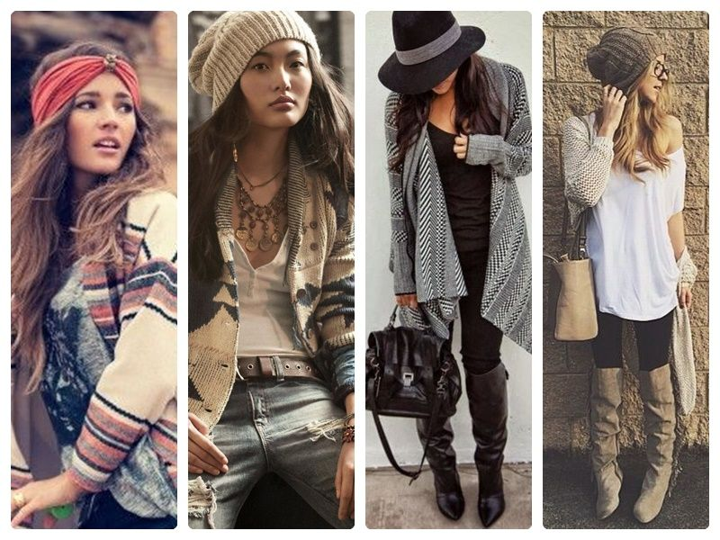 Winter outfits from Pinterest - collage by lil'Miss Boho