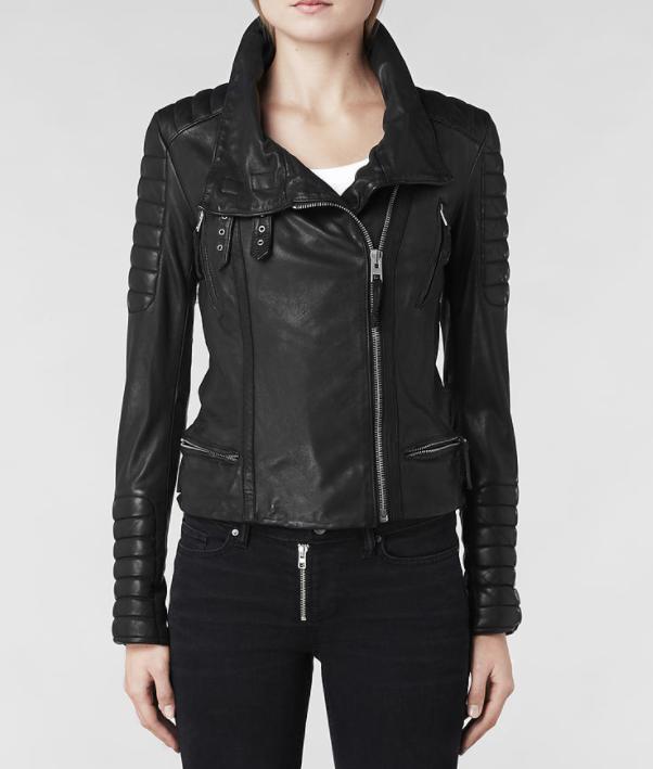 77377495d4fc3 All Saints Steine Leather Biker Jacket. 328 Pounds
