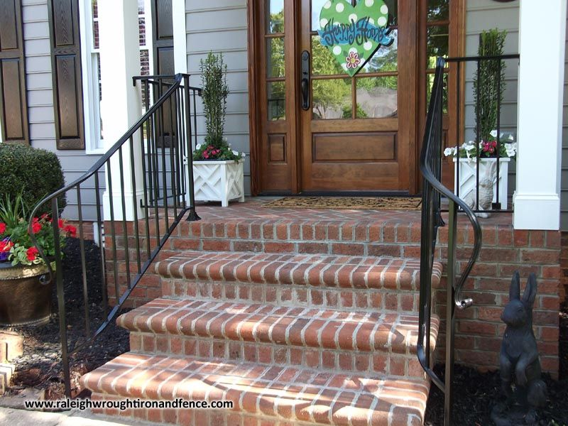 Best Custom Wrought Iron Porch Railings Raleigh Nc Wrought 400 x 300