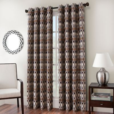 Buy Cadence 95 Inch Window Curtain Panel In Fiesta From Bed Bath Beyond