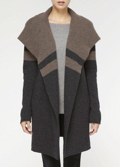 Stripe Blanket Coat | Style | Pinterest | Like you Grey and Coats