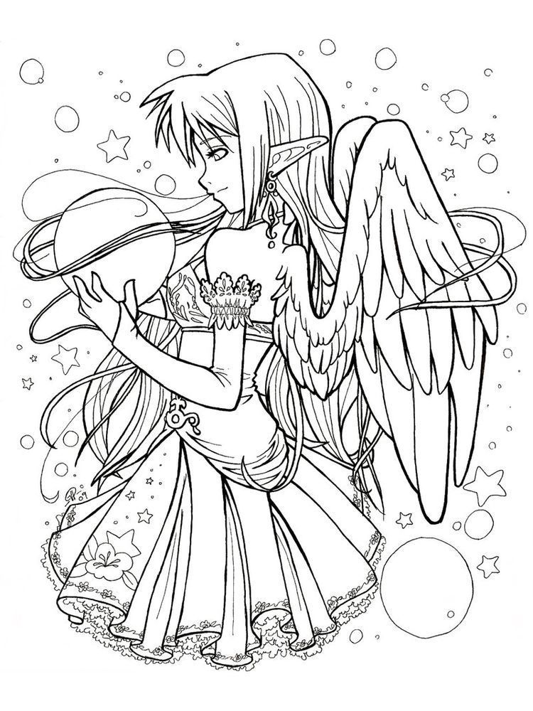 Anime Cute Animal Coloring Pages In 2020 Fairy Coloring Pages Chibi Coloring Pages Animal Coloring Pages