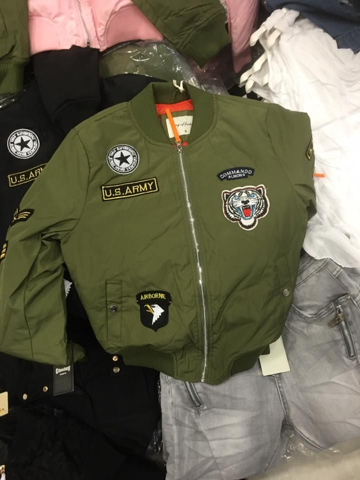 Bomber jas leger groen voor Dames Jas, Damesjassen en Mouwen
