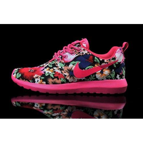 Nike Roshe Women's Run Flowers Running Shoes 38
