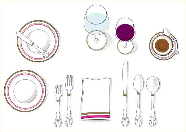 Glasses, silverware, everywhere! Learn the proper way to set your ...