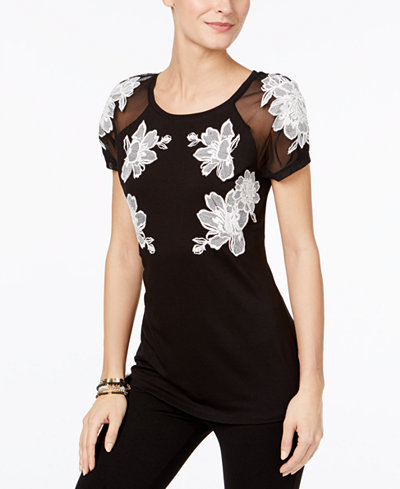 69.50$  Watch here - http://visey.justgood.pw/vig/item.php?t=aqmap8210 - Embroidered Illusion T-Shirt, Only at Macy's