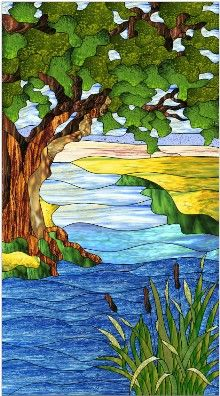 Summer Daze Stained Glass Nature Pattern Glass Art Pictures Stained Glass Paint Glass Painting Designs