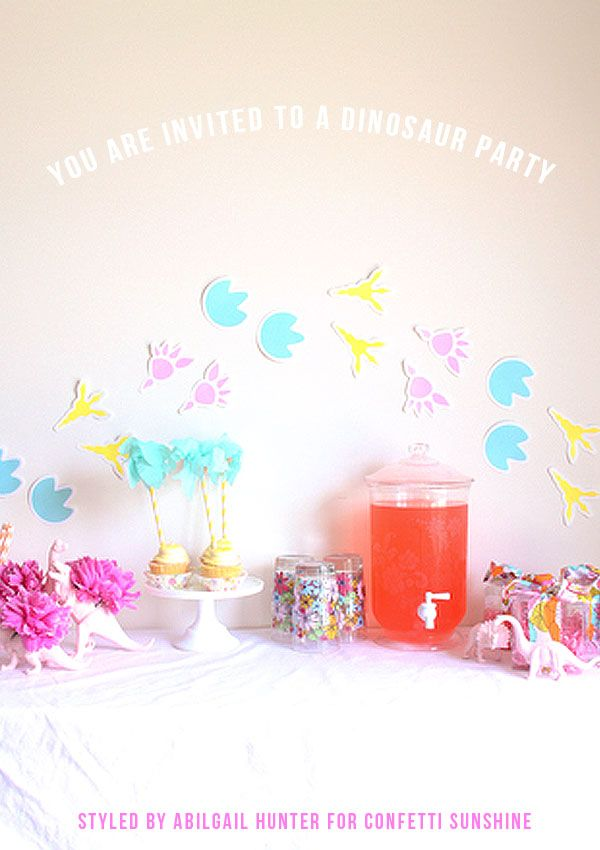 Confetti Sunshine A Girls Dino Party Free Party Printables