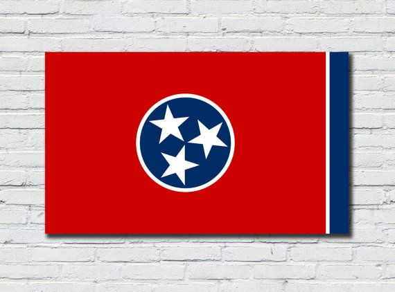 Tennessee State Flag Poster, Tennessee State Flag Decor, Tennessee State Flag Art, Tennessee State Flag Print