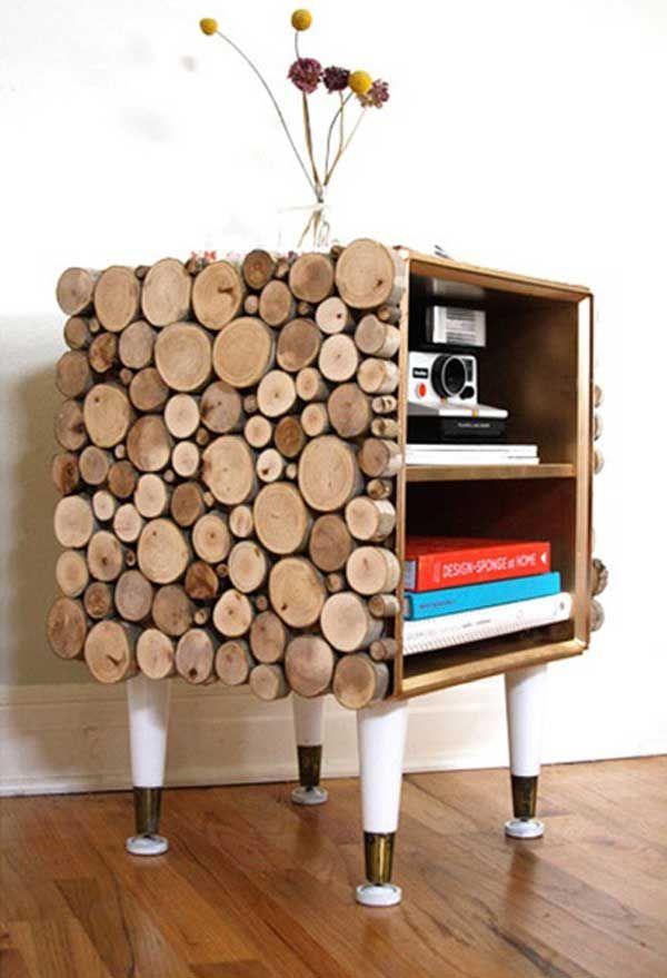 40 DIY Rustic Home Decor Ideas Using Wood Logs, http//photovide