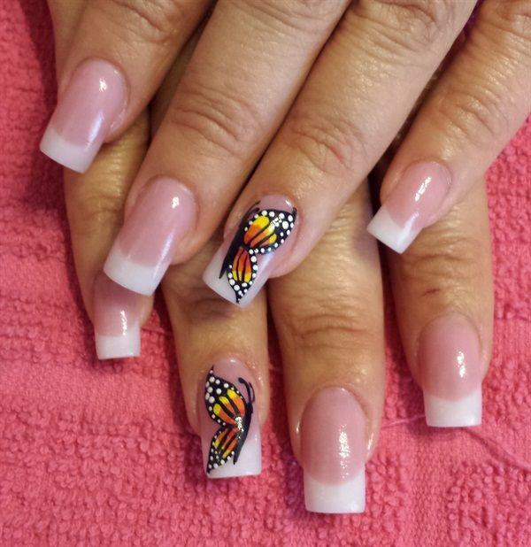 Day 20: Butterfly & Black Nail Art | Black nail art, Black nails and ...
