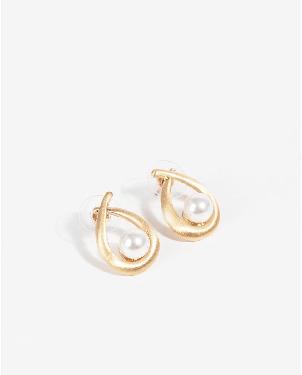a8b1408075ab Pendientes Parfois dorados con perla Moda Para Mujer