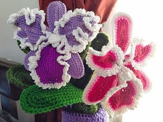 free cattleya orchid crochet flower pattern crochet  dutch iris orchid crochet flower