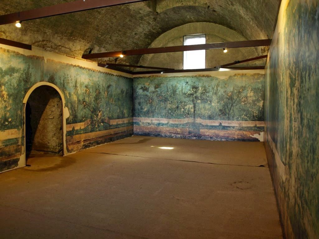 Wall painting at Villa Livia near Rome. The villa was part