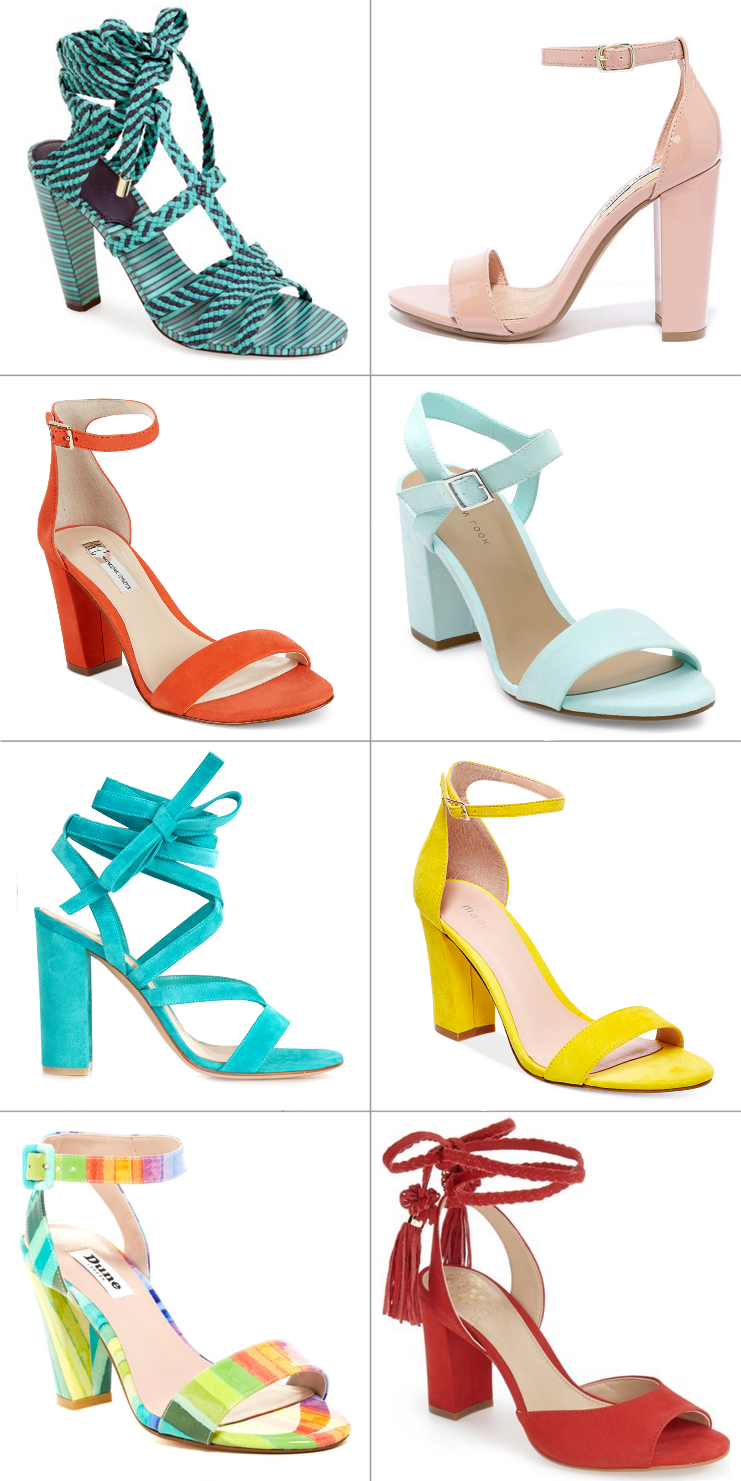 ba257970eb3 Sparkles and Shoes Currently Trending Colorful Block Heel Sandals ...