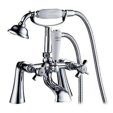 grifo de bañera de inspiración contemporánea con ducha de mano (cromado) - EUR € 111.37
