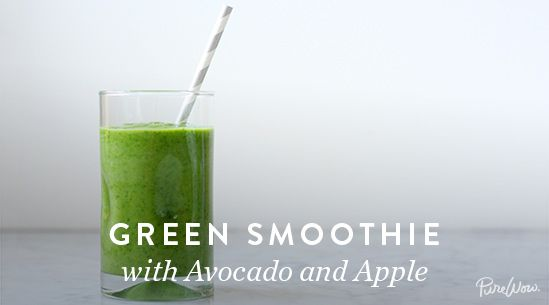 Green Smoothie with Avocado and Apple