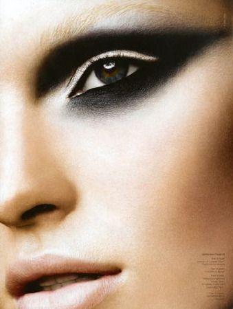 black smokey eye  makeup artist portfolio makeup brushes