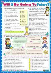 English worksheet: Will or Be Going To Future?   A   Pinterest ...