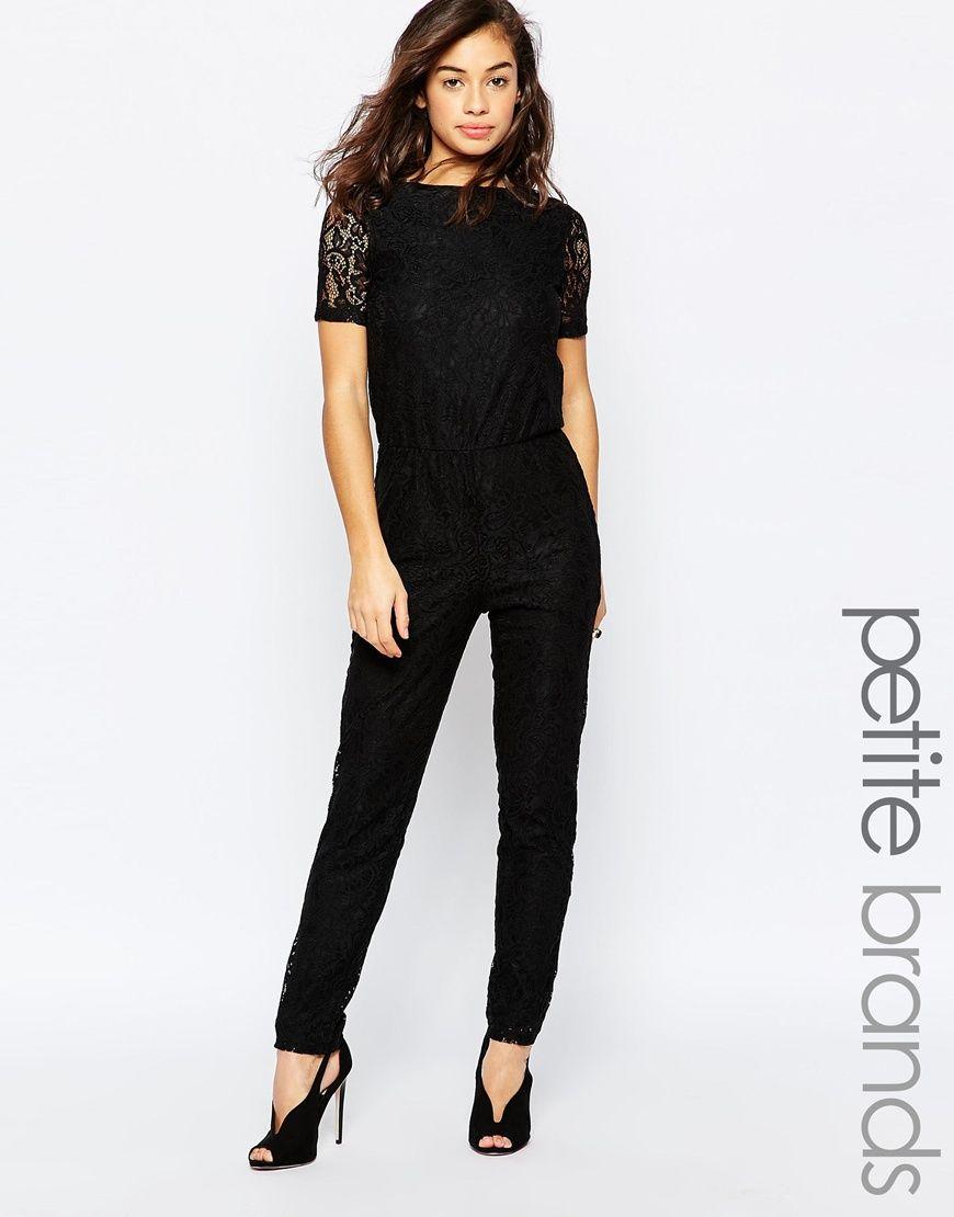 Image 1 of Vero Moda Petite Lace Jumpsuit