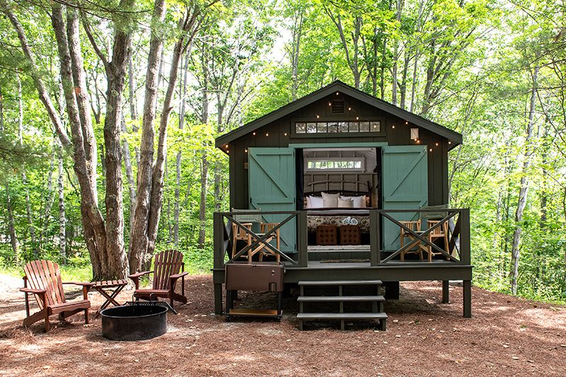 Glamping Rentals Sandy Pines Camping Cabin Tent