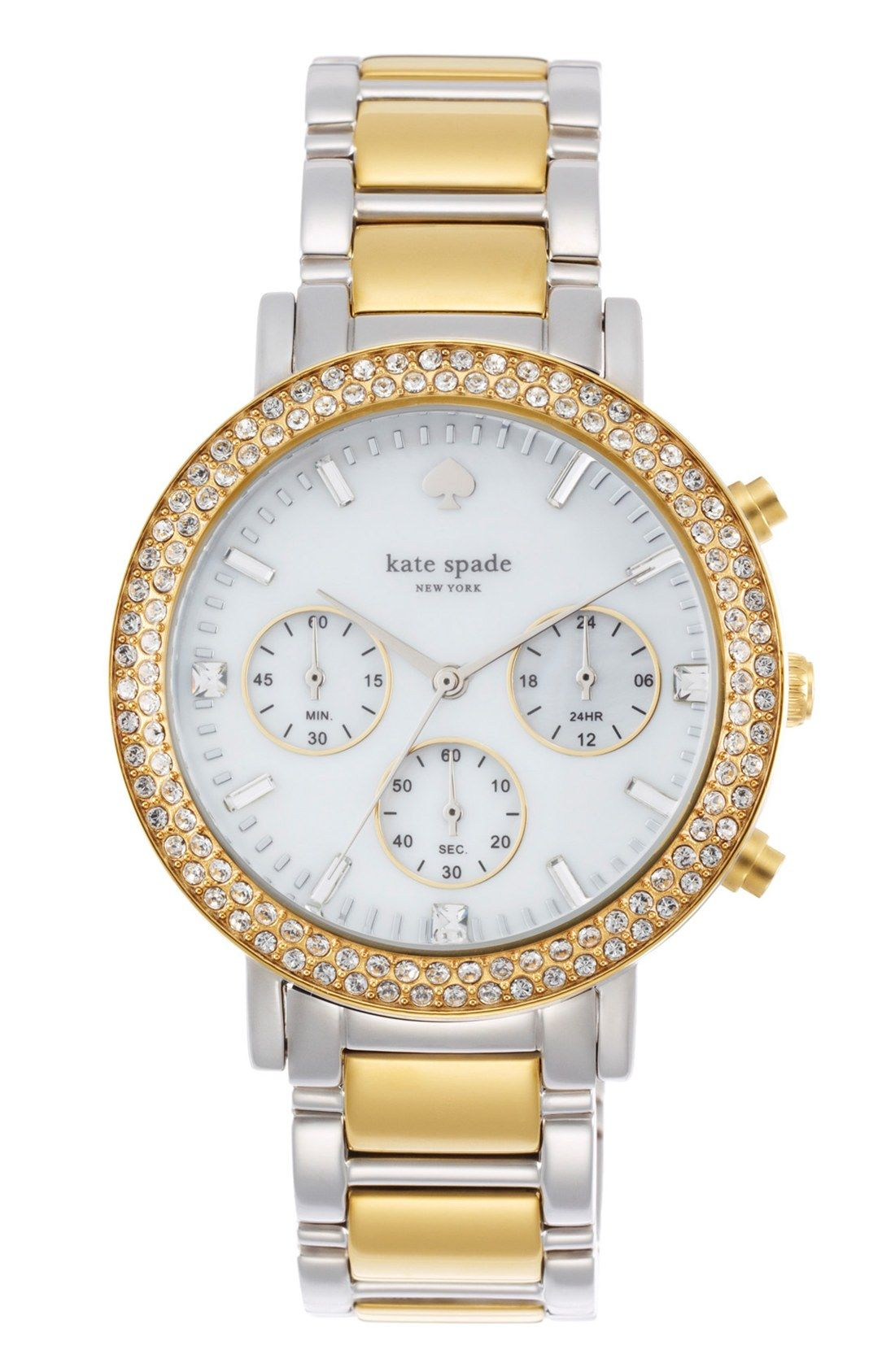 9df8b897a8e60 This sparkly two-toned Kate Spade watch is going on the wish list ...