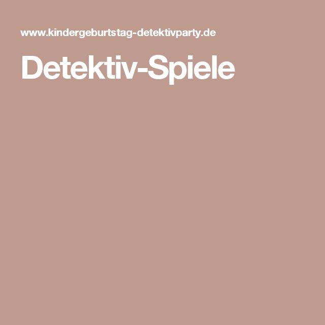 Detektiv-Spiele