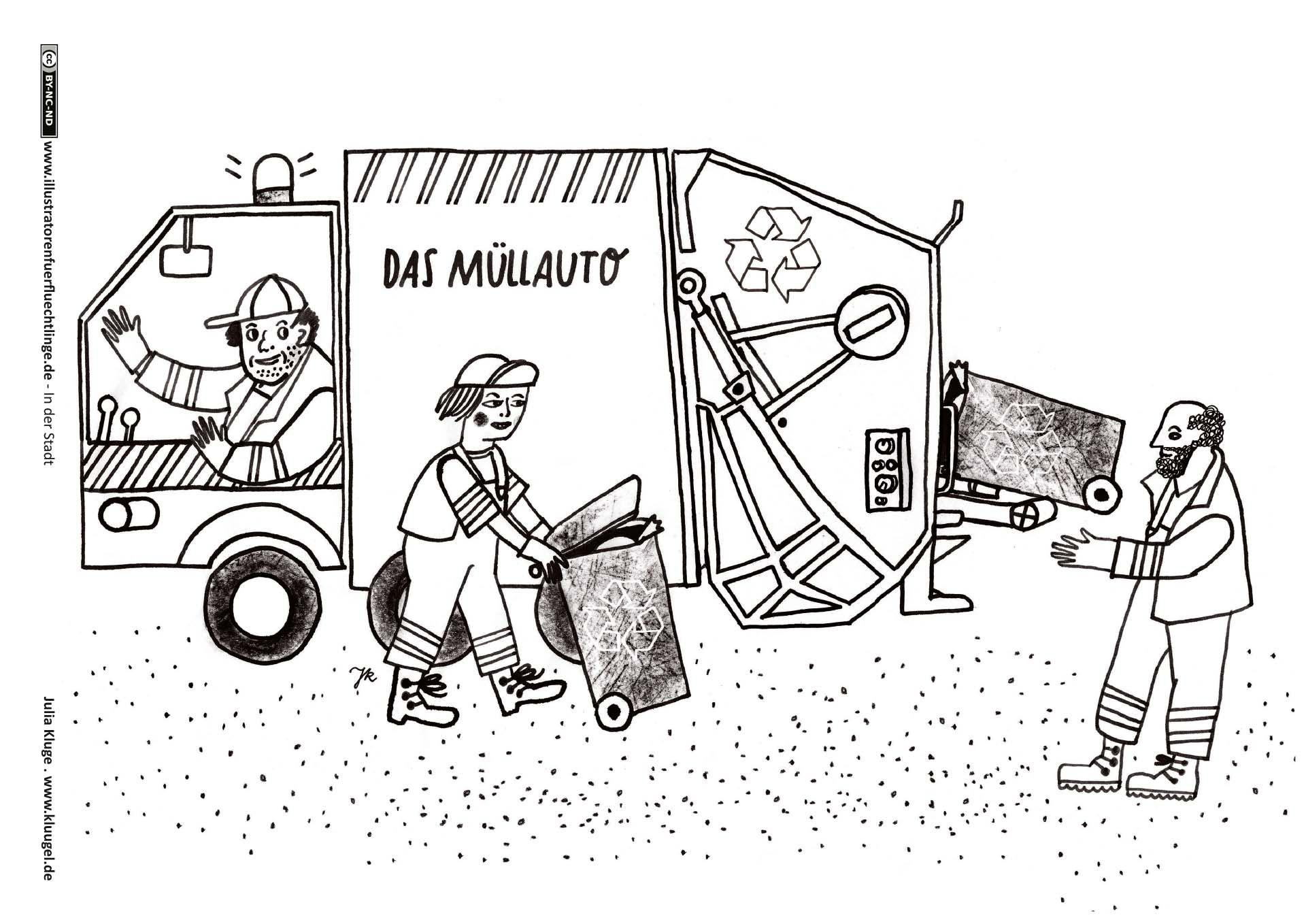 Müllabfuhr   Illustrator, Projekte im kindergarten ...