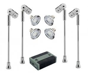4 X Spectrum Stalk Spots, LED Lamps U0026 Battery KIT From Display Lighting, UK  Manufacturers Of Quality Lighting Systems Designed For Cabinets And  Showcases, ...